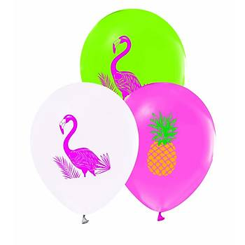 Flamingo Baskýlý Pastel Balon  5ad