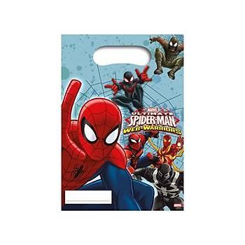 Spiderman Parti Poþeti 6 Ad.