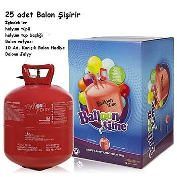 Helyum Tüpü  25 Adet Balon Þiþirir