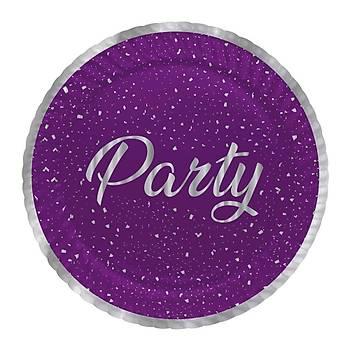 Party Mor Tabak 23 cm 8 Ad