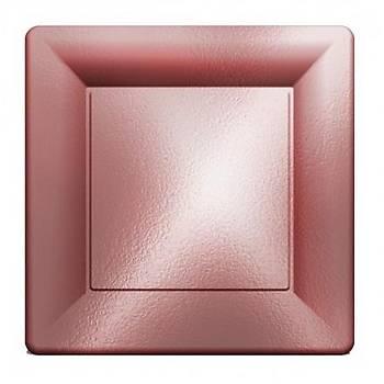 Metalize Rose Gold Kare Karton Tabak 6 adet