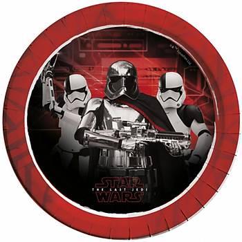 Star Wars The last Jedi Metalik Karton Tabak