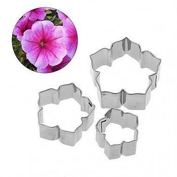 Petunia flowers cutter set