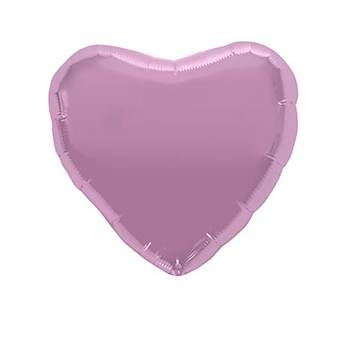 Pembe Kalp Folyo Balon 40 cm
