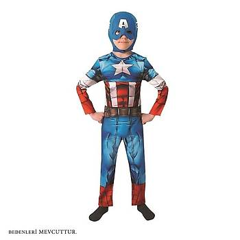 Captaýn America Çocuk Kostüm M Beden