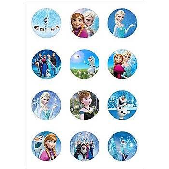 Frozen Ailesi Muffin Þekerli Kaðýda Baský