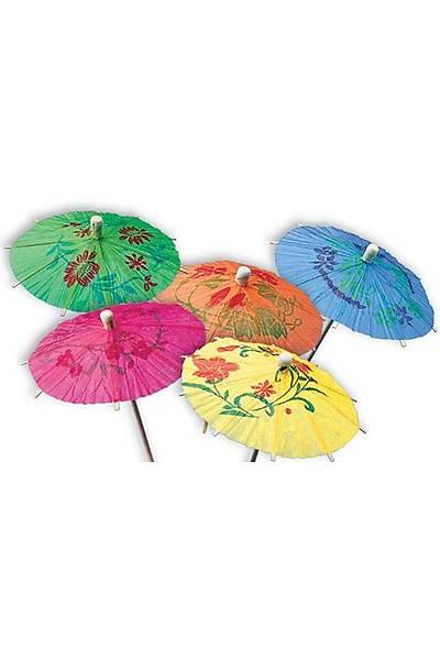 Şemsiye Kürdan Süs 10 Adet