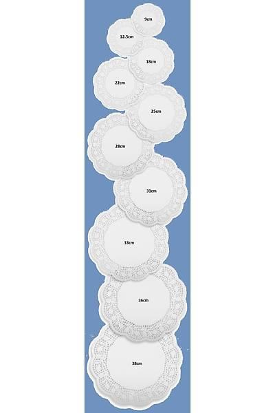 Dantel Pasta Mendil 18 cm 100ad