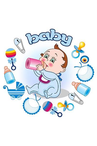 Baby Shower Mavi Gofret Pasta Resmi