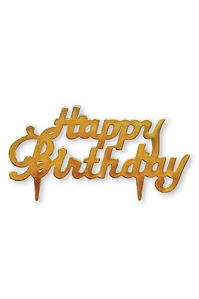 Happy Birthday Pasta Süsleme Plaketi