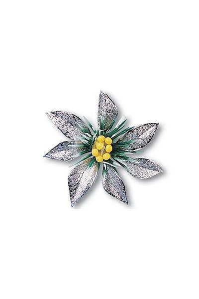 Gümüş Çiçek Pasta Süsü