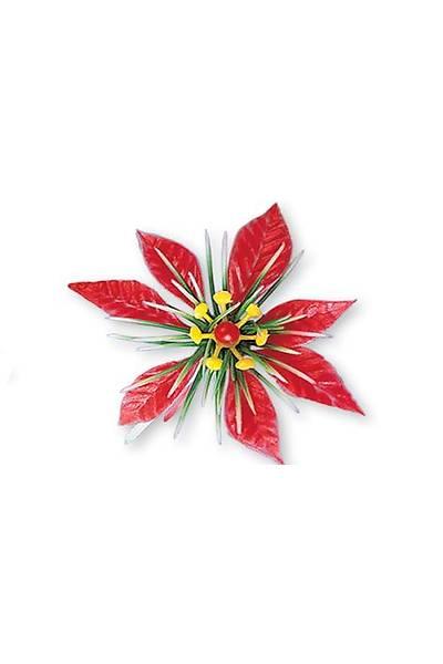 Kırmızı Çiçek Küçük Pasta Süsü