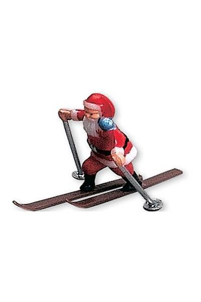 Kayakçı Noel Baba Pasta Süsü