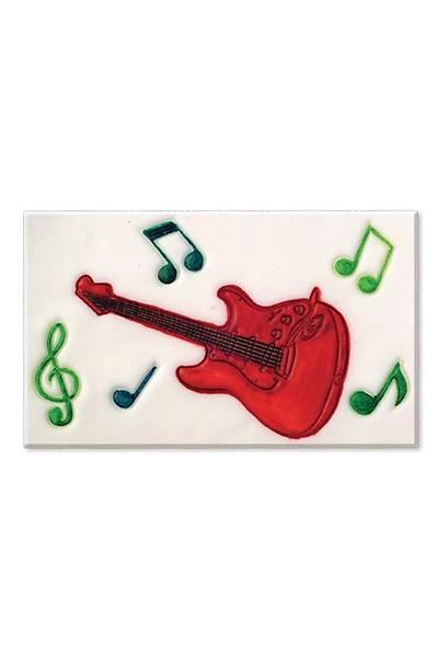 Gitar Figürlü Pasta Kalıbı