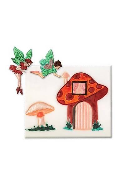 Peri Mantar Ev Figürlü Pasta Kalıbı