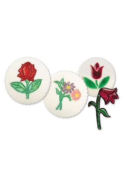 Gül Lale Çiçek Pasta Kalıbı