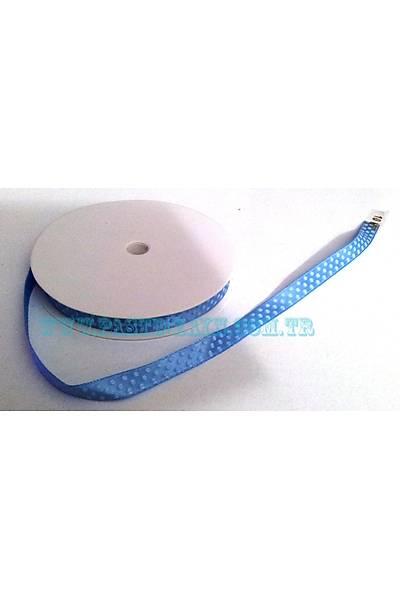 Mavi Beyaz Benekli Baskýlý Kurdela 10 cm