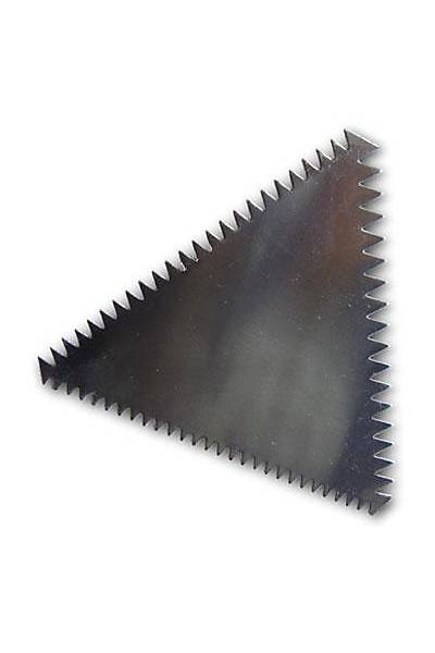 Üçgen Metal Pasta Tarağı  11 cm