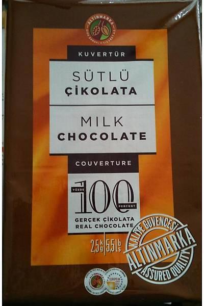 Altın Marka Kuvertür Sütlü Çikolata 2,5 kg