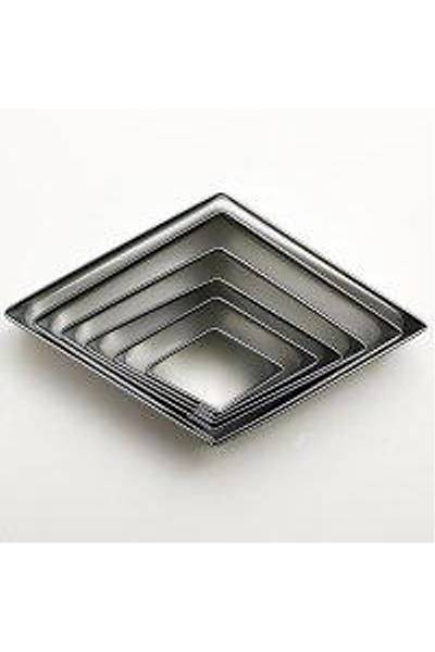 6'LI Tırtıklı Baklava Metal Volovan Set