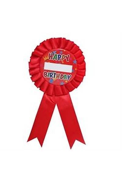 Happy Birthday Kýrmýzý Parti Rozeti