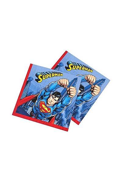 Süperman Doğum günü Peçetesi 20 li