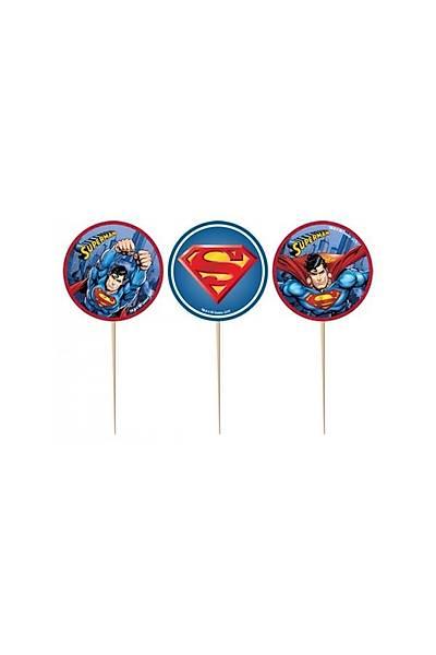 Superman Kürdan Süs (8 Adet)