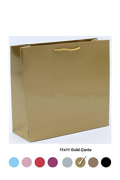 Altın 11x11 Karton Çanta 50 ad