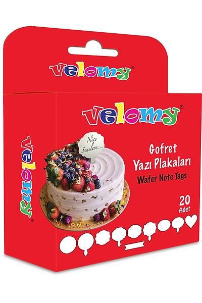 Velomy Yenilebilir Dikdörtgen Pasta Yazı Plaketi