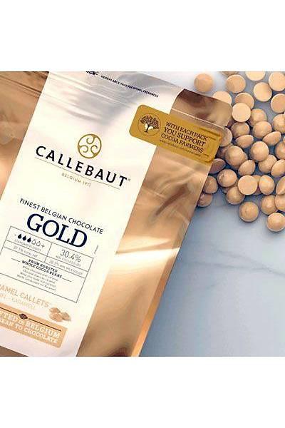 Callebaut Gold Karamel Aromalı Minik Pul Çikolata 500 gr