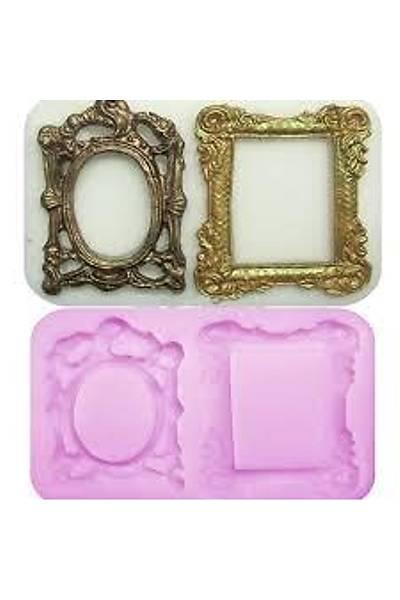 3 D Ayna Çerçeve Silikon Şeker Hamuru Kalıbı
