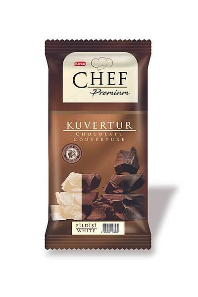 Chef Premium Beyaz Mini Kuvertür 200 Gr