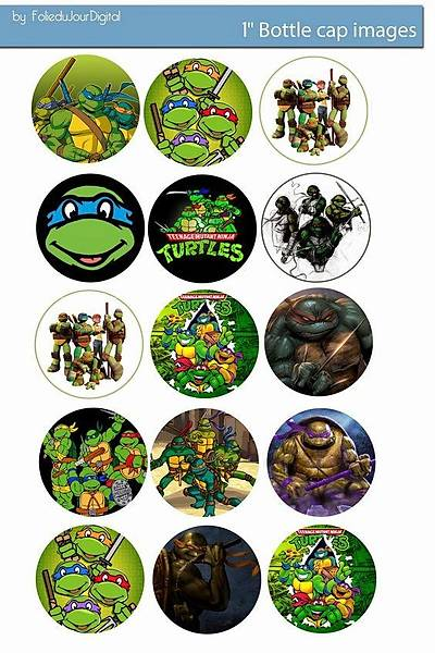 Ninja turtles Cupcake ve Kurabiye  Baský