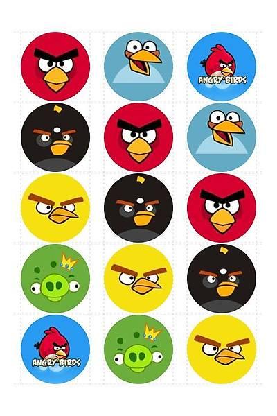 Angry Birds  Cupcake ve Kurabiye  Baský