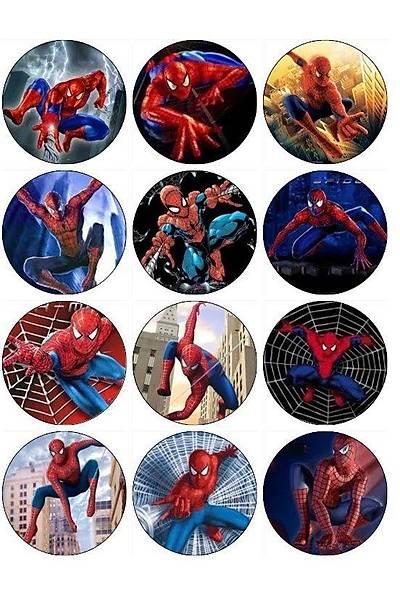 Spiderman  Þekerli Kaðýda  Cupcake ve Kurabiye  Baský