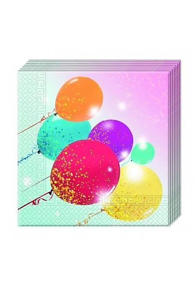 Simli Balonlar Peçete 20 ad.