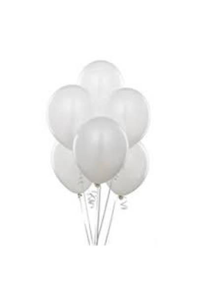 Metalize Beyaz  Balon 5 ad.