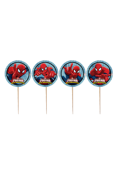 Spiderman  Kürdan Süs (10 Adet)