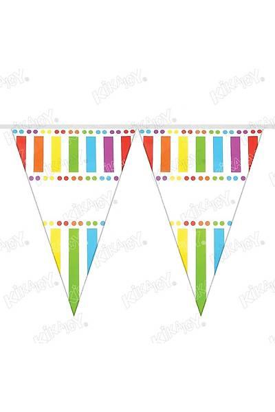 Renkli ÇÝzgiler Üçgen Filama