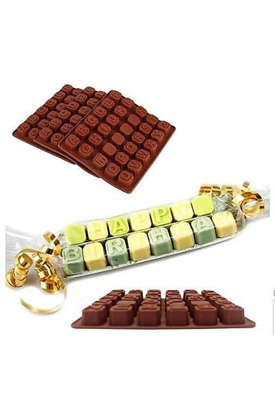 Büyük Küp Alfabe Çikolata Kalýbý