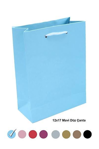 Mavi 12X17 Karton Çanta  25ad