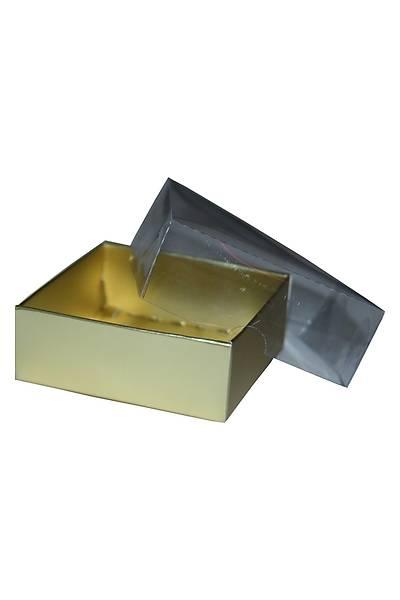 Gold  Sabun Kutusu 8 x 8 x3 cm 5adet