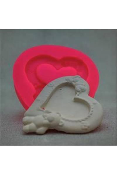 Kalp Ayıcık Love Sabun Ve Kokulu Taş Kalıbı
