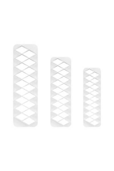 Diamond Geometric Þeker Hamuru Kesici 3 Parça