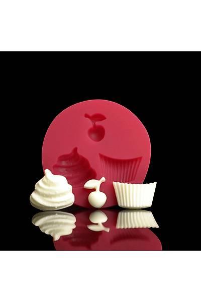 Cupcake Set 5,5 cm Silikon Kalýp