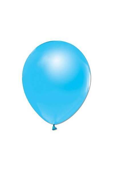 Metalik Mavi Balon