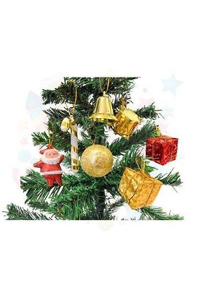 Ağaç Süsü Şeker Kamışı- Trampet- Noel Baba- Top-Çan