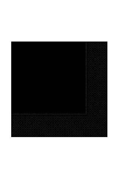 Siyah Renk Peçete 20 Adet
