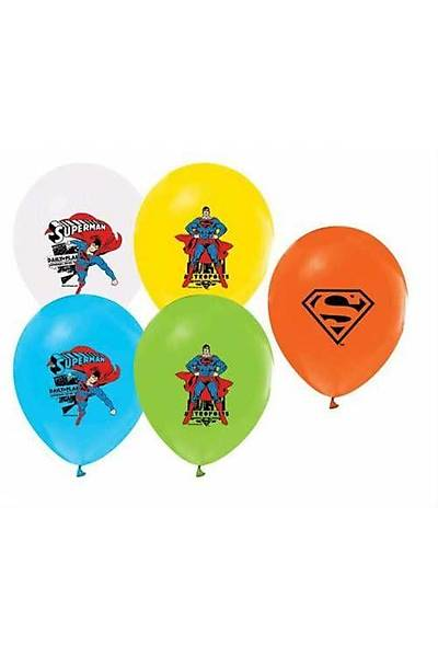 Superman Baskılı Latex Balon 5ad