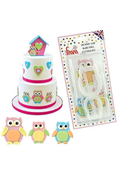 Mumy And Baby Owl Cutter Set